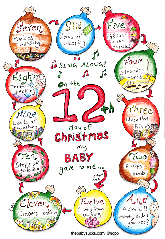 One the twelfth day of Christmas, my baby gave to me: